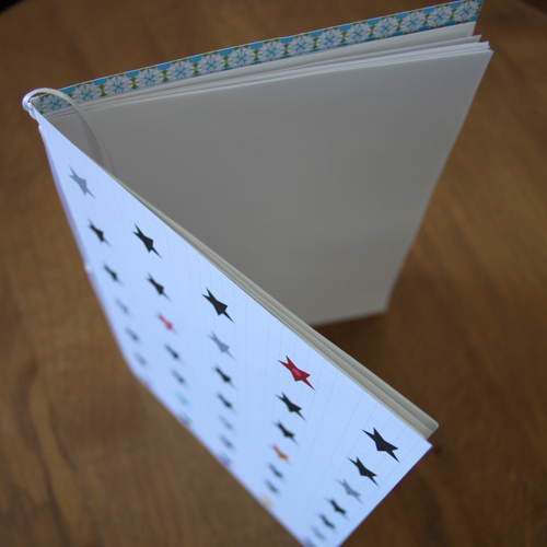 cahier pages blanches