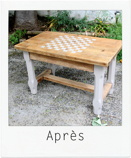 table basse JEU DE DAMES 2